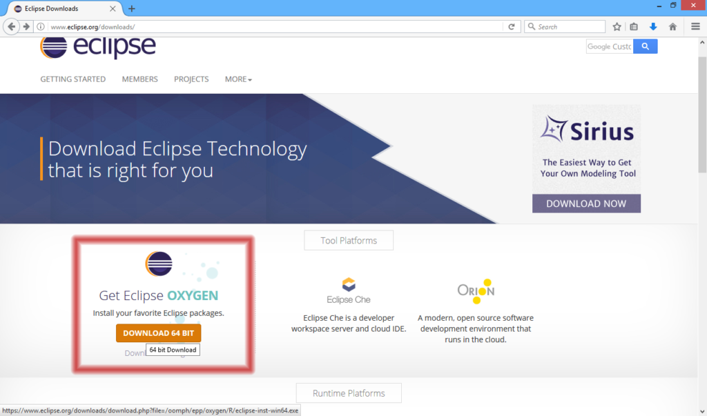 Installing Eclipse IDE | O  A  Software